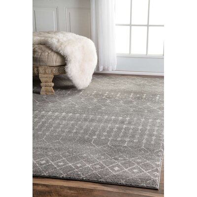 Clair Dark Gray Area Rug Rug Size: 4 x 6