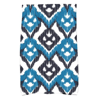 Geometric Hand Towel Color: Blue/Aqua