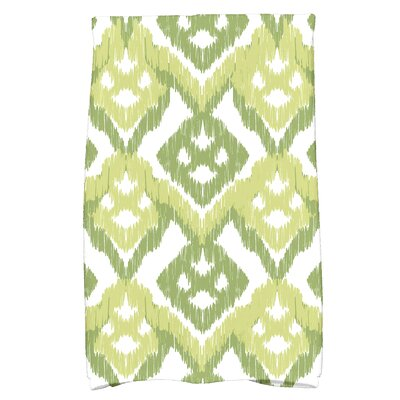 Geometric Hand Towel Color: Green