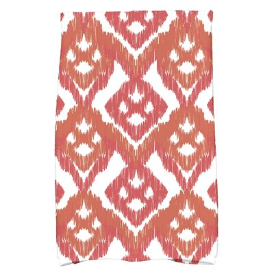 Geometric Hand Towel Color: Orange