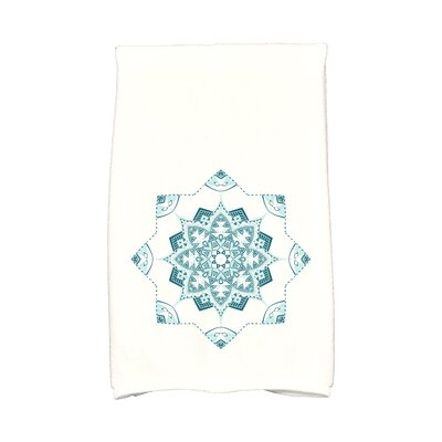 Snowflake Star Hand Towel Color: Teal