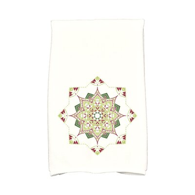 Snowflake Star Hand Towel Color: Cranberry