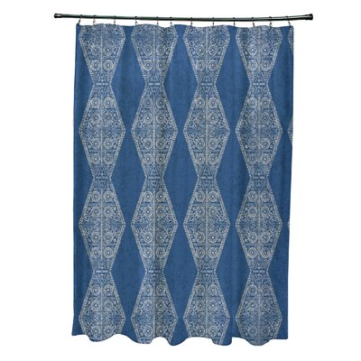Soluri Pyramid Print Shower Curtain Color: Blue