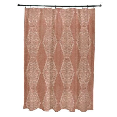 Soluri Pyramid Print Shower Curtain Color: Orange