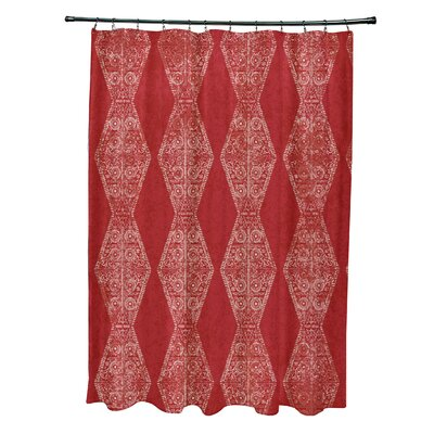 Soluri Pyramid Print Shower Curtain Color: Red