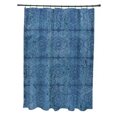 Soluri Patina Geometric Print Shower Curtain Color: Blue