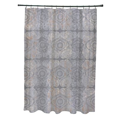 Soluri Patina Geometric Print Shower Curtain Color: Gray