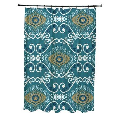 Soluri Illuminate Print Shower Curtain Color: Blue