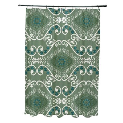 Soluri Illuminate Print Shower Curtain Color: Green