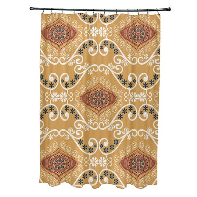 Soluri Illuminate Print Shower Curtain Color: Gold