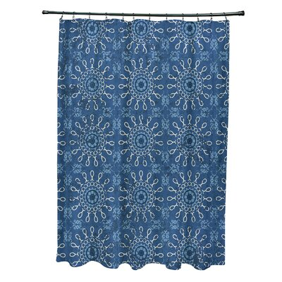 Soluri Sun Tile Print Shower Curtain Color: Blue