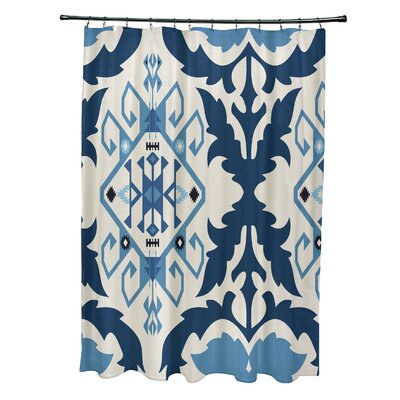 Soluri 6 Print Shower Curtain Color: Navy Blue