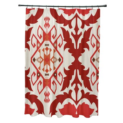 Soluri 6 Print Shower Curtain Color: Orange / Rust