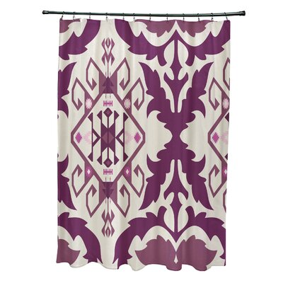 Soluri 6 Print Shower Curtain Color: Purple