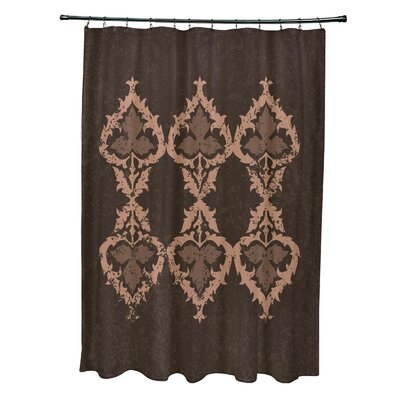 Soluri Print Shower Curtain Color: Brown