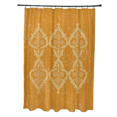 Soluri Print Shower Curtain Color: Gold