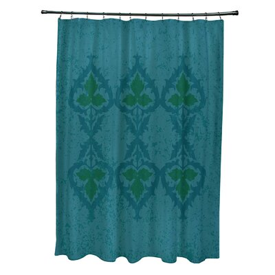 Soluri Print Shower Curtain Color: Blue