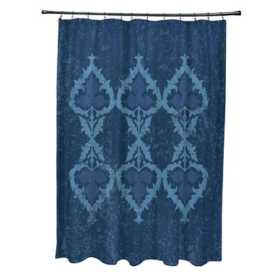 Soluri Print Shower Curtain Color: Navy Blue