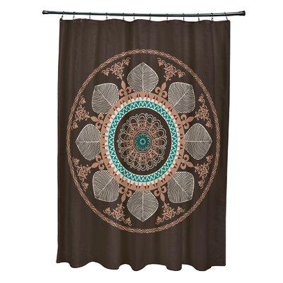 Soluri Stained Glass Print Shower Curtain Color: Brown