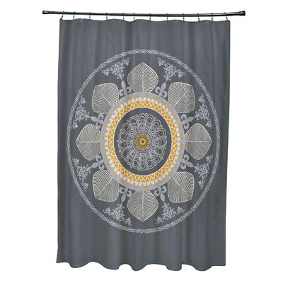 Soluri Stained Glass Print Shower Curtain Color: Gray