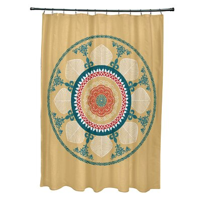 Soluri Stained Glass Print Shower Curtain Color: Gold