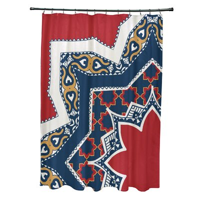 Soluri Rising Star Print Shower Curtain