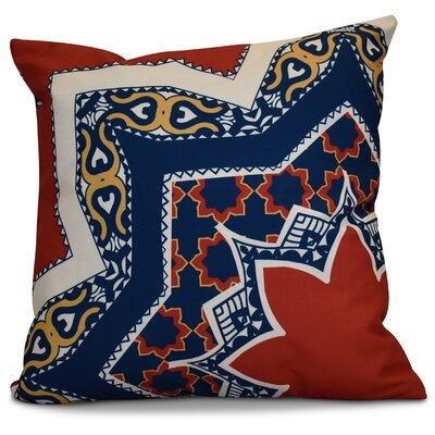 Soluri Rising Star Geometric Throw Pillow Size: 16 H x 16 W x 2 D, Color: Red