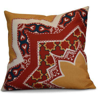 Soluri Rising Star Geometric Throw Pillow Size: 16 H x 16 W x 2 D, Color: Gold