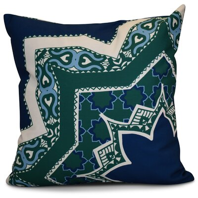 Soluri Rising Star Geometric Throw Pillow Size: 16 H x 16 W x 2 D, Color: Navy Blue