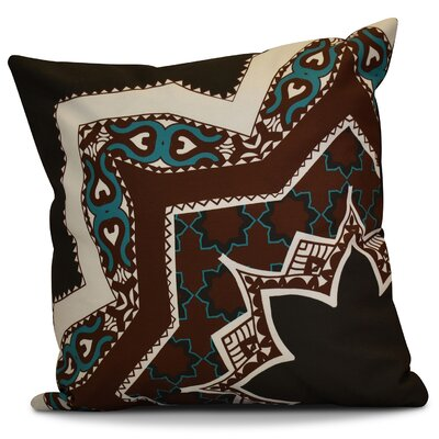 Soluri Rising Star Geometric Throw Pillow Size: 16 H x 16 W x 2 D, Color: Brown