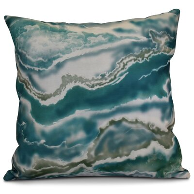 Soluri Remolina Geometric Outdoor Throw Pillow Size: 20 H x 20 W x 2 D, Color: Teal