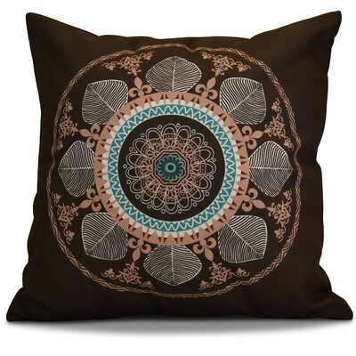 Soluri Stained Glass Geometric Throw Pillow Color: Brown, Size: 20 H x 20 W x 2 D