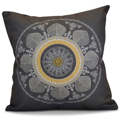 Soluri Stained Glass Geometric Throw Pillow Size: 18 H x 18 W x 2 D, Color: Gray