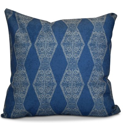 Soluri Pyramid Striped Geometric Outdoor Throw Pillow Color: Blue, Size: 20 H x 20 W x 2 D