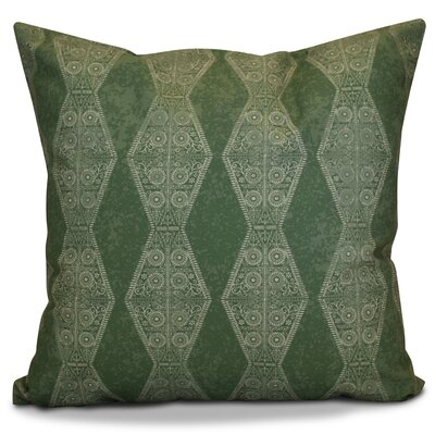 Soluri Pyramid Striped Geometric Outdoor Throw Pillow Size: 18 H x 18 W x 2 D, Color: Green