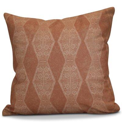Soluri Pyramid Striped Geometric Outdoor Throw Pillow Size: 16 H x 16 W x 2 D, Color: Orange
