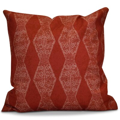 Soluri Pyramid Striped Geometric Outdoor Throw Pillow Size: 16 H x 16 W x 2 D, Color: Red