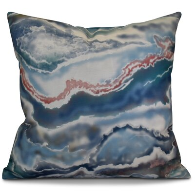 Soluri Remolina Geometric Throw Pillow Color: Blue, Size: 18 H x 18 W x 2 D