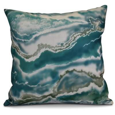 Soluri Remolina Geometric Throw Pillow Size: 16 H x 16 W x 2 D, Color: Teal