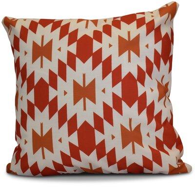 Soluri Geometric Outdoor Throw Pillow Size: 16 H x 16 W x 2 D, Color: Orange