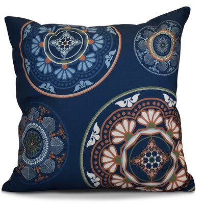 Soluri Medallions Geometric Throw Pillow Size: 18 H x 18 W x 2 D, Color: Blue