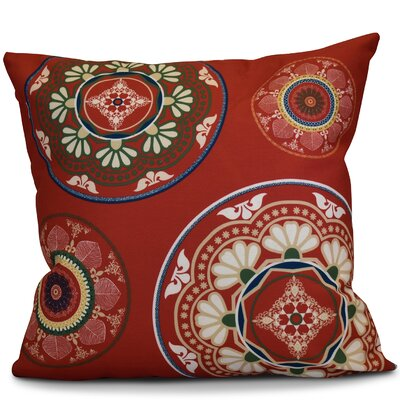 Soluri Medallions Geometric Throw Pillow Size: 16 H x 16 W x 2 D, Color: Red