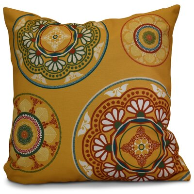 Soluri Medallions Geometric Throw Pillow Size: 16 H x 16 W x 2 D, Color: Gold
