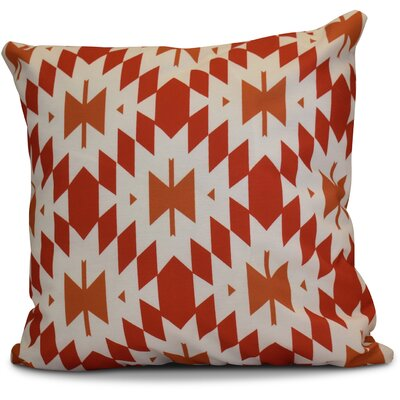 Soluri Geometric Euro Pillow Color: Orange