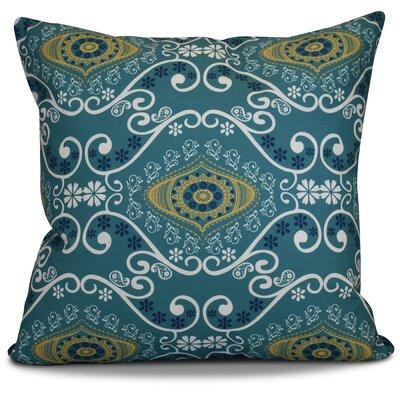 Soluri Illuminate Geometric Euro Pillow Color: Blue