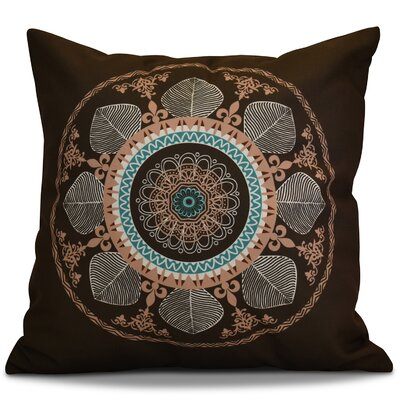 Soluri Stained Glass Geometric Euro Pillow Color: Brown