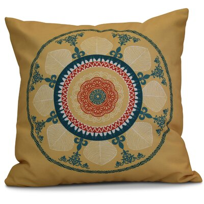 Soluri Stained Glass Geometric Euro Pillow Color: Gold