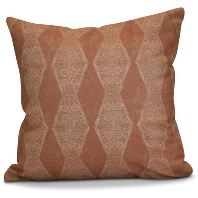 Soluri Pyramid Striped Geometric Euro Pillow Color: Orange