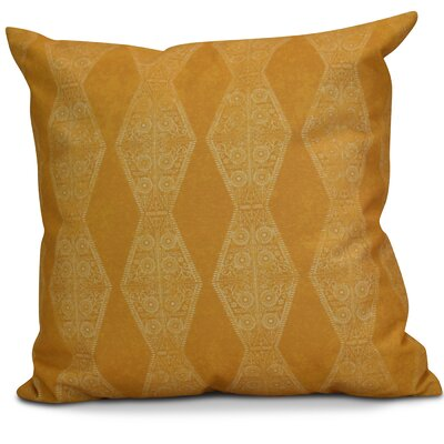 Soluri Pyramid Striped Geometric Euro Pillow Color: Gold
