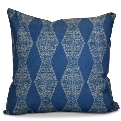 Soluri Pyramid Striped Geometric Euro Pillow Color: Blue